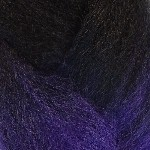 Color Swatch: 1B Off Black with Dark Purple Tips
