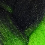 Color Swatch: 1B Off Black with Neon Green Tips