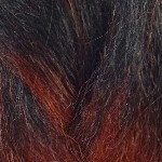 Color Swatch: 1B Off Black with 350 Rusty Red Tips